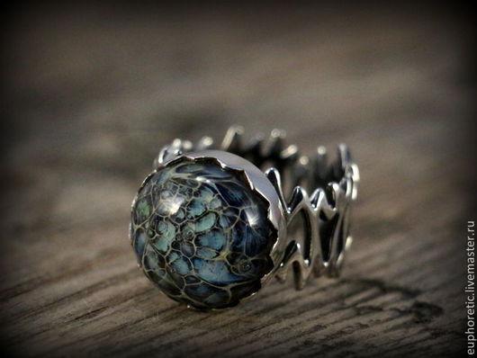 """Кольца ручной работы. Ярмарка Мастеров - ручная работа. Купить """"Лесной дракон"""" лэмпворк кольцо. Handmade. Дракон, кольцо лэмпворк"""