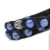 Украшения handmade. Livemaster - original item Set of bracelets Shambala suede with kyanite and silver. Handmade.