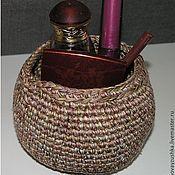 Для дома и интерьера ручной работы. Ярмарка Мастеров - ручная работа Коробочка корзинка вязаная для хранения. Handmade.