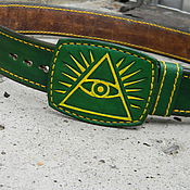 Straps handmade. Livemaster - original item Leather strap under jeans.. Handmade.