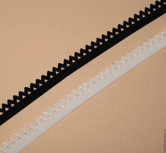 Шитье ручной работы. Ярмарка Мастеров - ручная работа. Купить Резиночка ажурная,зубчики 13 мм. Handmade. Чёрно-белый