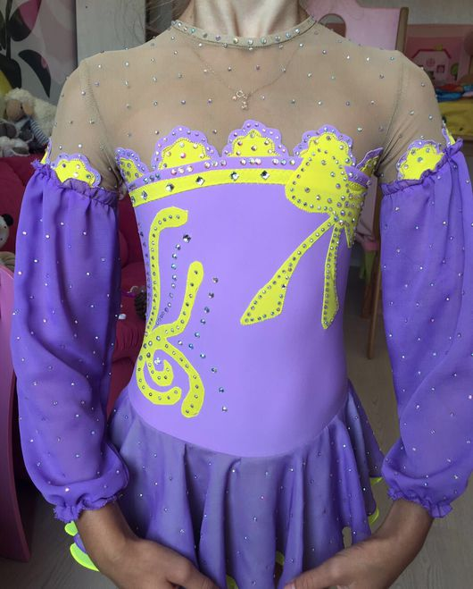 Спортивная одежда ручной работы. Ярмарка Мастеров - ручная работа. Купить Платье для фигурного катания. Handmade. Фиолетовый, для фигурного катания