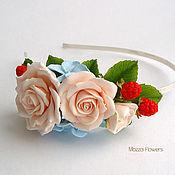 handmade. Livemaster - original item Headband with flowers and berries