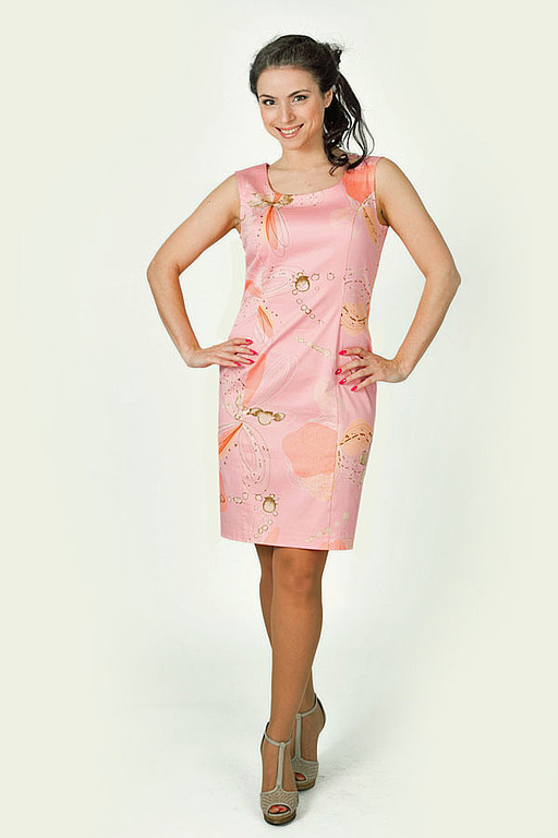 Dresses handmade. Livemaster - handmade. Buy Sheath dress - pale pink.Summer dress, board every day, elastane