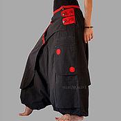 Одежда handmade. Livemaster - original item Black salwar kameez With red pocket