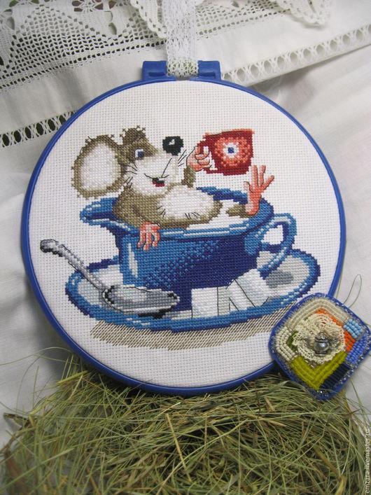 """Броши ручной работы. Ярмарка Мастеров - ручная работа. Купить Брошь """"Весёлое чаепитие """". Handmade. Комбинированный, подвеска для украшений"""