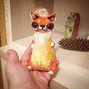 Куклы и игрушки handmade. Livemaster - original item Teddy Animals: animals on the palm-Fox. Handmade.