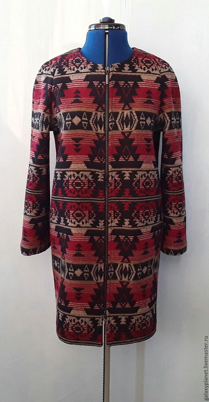 3fbe02f183f Верхняя одежда ручной работы. Ярмарка Мастеров - ручная работа. Купить  Пальто прямое на молнии ...