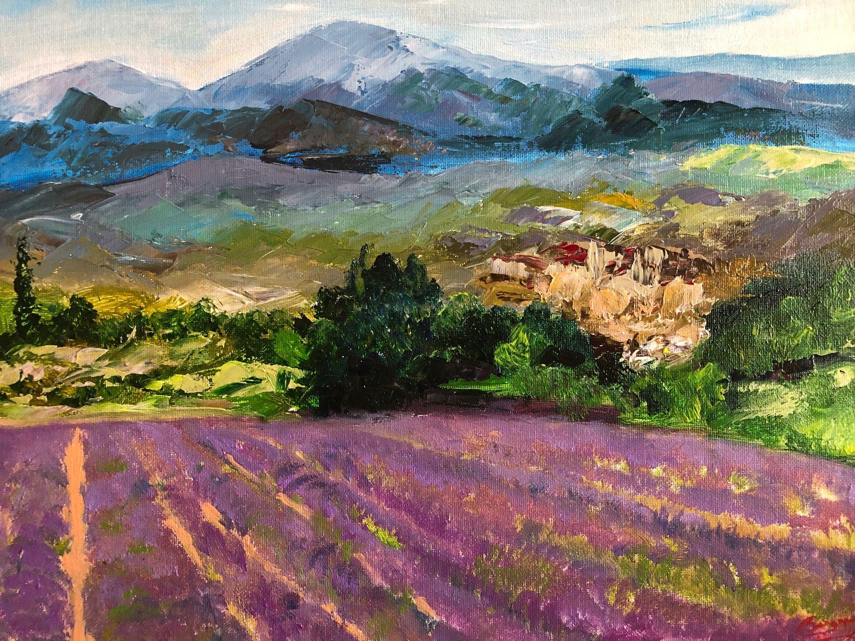 Лавандовое поле, Картины, Королев,  Фото №1
