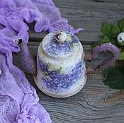 """Для дома и интерьера ручной работы. Ярмарка Мастеров - ручная работа """"Когда цветет сирень"""" чайник винтажный. Handmade."""