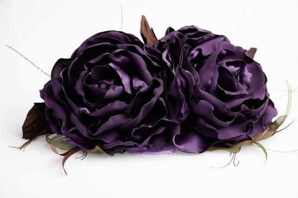 Фиолетовые розы, Брошь-булавка, Москва,  Фото №1