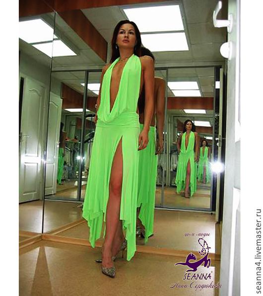 """Платья ручной работы. Ярмарка Мастеров - ручная работа. Купить Платье """"Яркое Летнее Салатовое"""" в любых цветах и размерах. Handmade."""