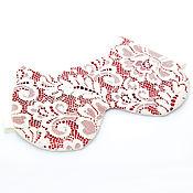 Одежда ручной работы. Ярмарка Мастеров - ручная работа Красная Маска для сна кошка, кружевная маска, подарок женщине. Handmade.