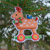 Подарки к праздникам handmade. Livemaster - original item Christmas toy Deer. Handmade.