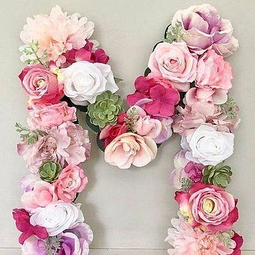 Свадебный салон ручной работы. Ярмарка Мастеров - ручная работа Аксессуары: Объемные буквы из цветов. Handmade.