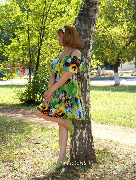 """Платья ручной работы. Ярмарка Мастеров - ручная работа. Купить Платье с воланами """"Вкус лета"""". Handmade. Платье, платье Хиппи"""