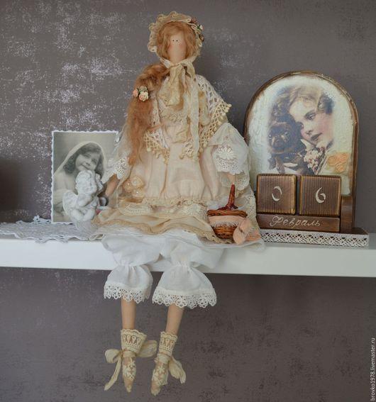 Куклы Тильды ручной работы. Ярмарка Мастеров - ручная работа. Купить Вивьен-яблочно-коричная нежность. Handmade. Бежевый