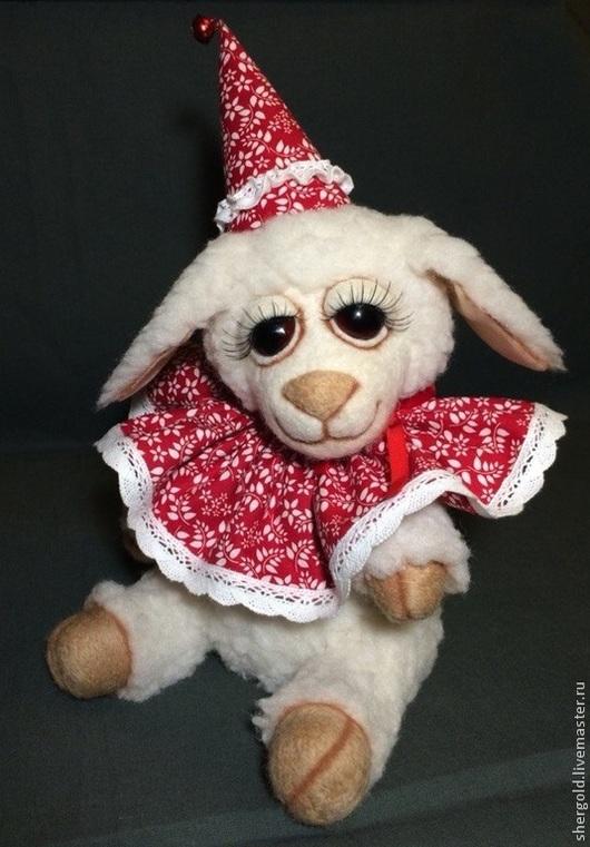Мишки Тедди ручной работы. Ярмарка Мастеров - ручная работа. Купить Овечка Буся. Handmade. Белый, новый год 2015, овечка