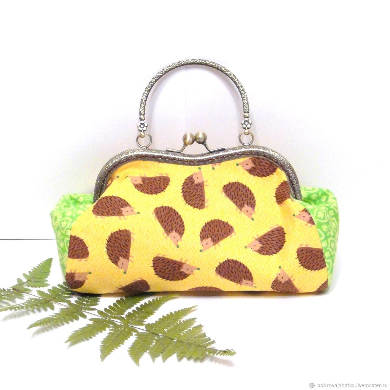 2e7fd4372a91 Купить Женская сумка кошелек Ежик · Женские сумки ручной работы. Женская сумка  кошелек Ежик Желтая косметичка на выпускной для девушки.