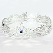 Украшения handmade. Livemaster - original item Crown silver with blue spinel. Handmade.