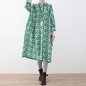 Одежда handmade. Livemaster - original item Printed Dress large size / shirt. Handmade.