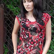"""Одежда ручной работы. Ярмарка Мастеров - ручная работа """"Красное и черное"""" - 2. Авторская работа. Handmade."""