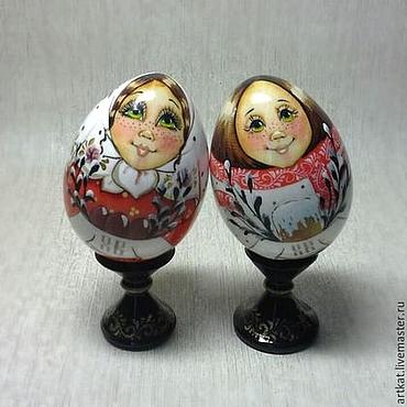 """Подарки к праздникам ручной работы. Ярмарка Мастеров - ручная работа Набор пасхальных яиц """"Парочка"""". Handmade."""