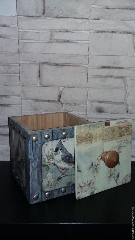 Кухня ручной работы. Ярмарка Мастеров - ручная работа. Купить Короб для хранения Птичка. Handmade. Серый, подарок на любой случай