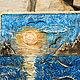 """Пейзаж ручной работы. Ярмарка Мастеров - ручная работа. Купить Морской коллаж """" Море внутри """". Handmade. Синий"""