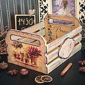 Для дома и интерьера ручной работы. Ярмарка Мастеров - ручная работа Светлые чувства, шебби-ящичек, декупаж. Handmade.