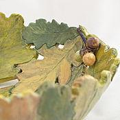 Посуда handmade. Livemaster - original item Autumn oak tree - large bowl. Handmade.
