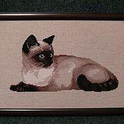 """Картины и панно ручной работы. Ярмарка Мастеров - ручная работа Картина """"Тайская кошка"""". Handmade."""