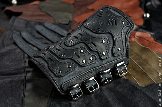 """Готика ручной работы. Ярмарка Мастеров - ручная работа. Купить Наруч кожаный мужской """"Механикус"""". Handmade. Часы наручные, готика"""