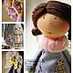 Коллекционные куклы ручной работы. Текстильная кукла Инна. Hauswerkstatt Tatjana Fetter. Ярмарка Мастеров. Текстильная кукла, день рождения