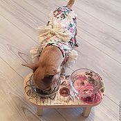 Для домашних животных, ручной работы. Ярмарка Мастеров - ручная работа Подставка под миску. Handmade.