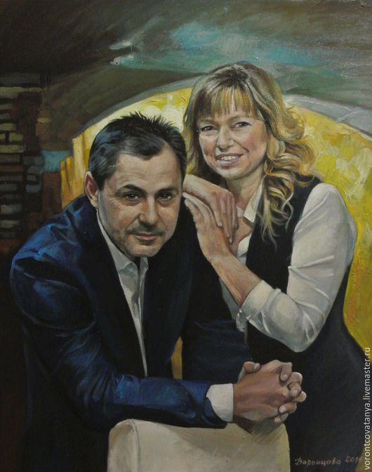 """Люди, ручной работы. Ярмарка Мастеров - ручная работа. Купить """"Виктор и Виктория"""". Handmade. Комбинированный, портрет на заказ, портрет по фотографии"""