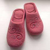 """Обувь ручной работы. Ярмарка Мастеров - ручная работа Тапочки-шлепки валяные """"Нежность"""". Handmade."""