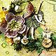 """Детские открытки ручной работы. Ярмарка Мастеров - ручная работа. Купить Открытка """"Лесная фея"""". Handmade. Зеленый, открытка для девочки"""