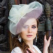Аксессуары handmade. Livemaster - original item Wedding hat with a brim. Color ivory. Handmade.