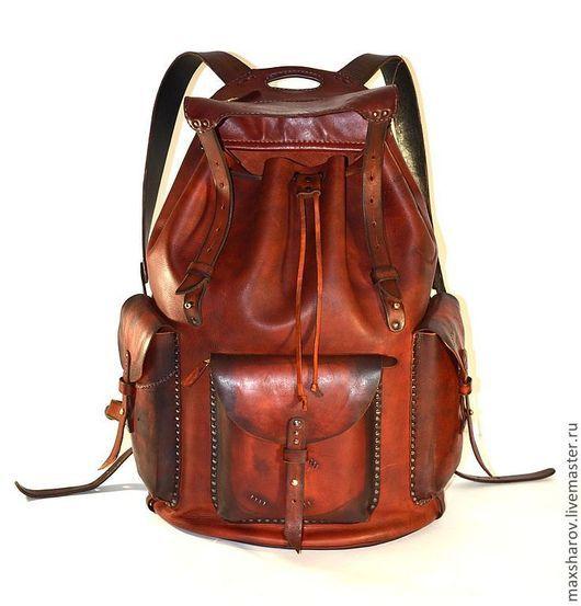 """Рюкзаки ручной работы. Ярмарка Мастеров - ручная работа. Купить Кожаный рюкзак ручной работы № 77 """"B"""" авторская работа. Handmade."""
