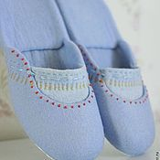 "Обувь ручной работы. Ярмарка Мастеров - ручная работа ""Лагуна"" валяные тапочки шлепанцы. Handmade."