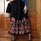 Одежда ручной работы. Ярмарка Мастеров - ручная работа Юбка с вышивкой D&G. Handmade.