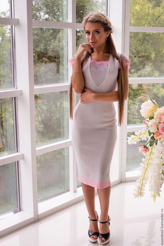 """Платья ручной работы. Ярмарка Мастеров - ручная работа. Купить Платье """"Туманное утро"""". Handmade. Серый, сшить платье"""