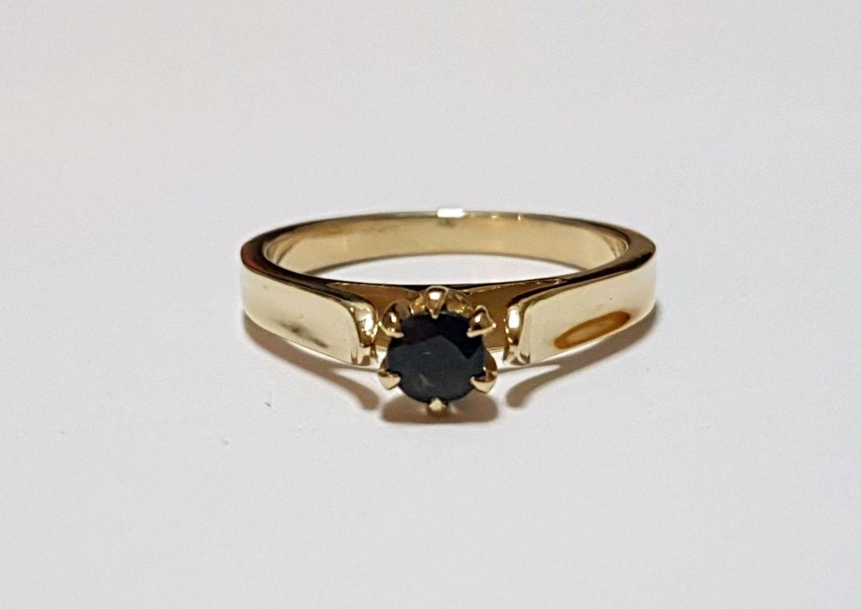 Кольца ручной работы. Ярмарка Мастеров - ручная работа. Купить Золотое кольцо с сапфиром. Handmade. Подарок девушке, кольцо с сапфиром