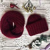 Аксессуары handmade. Livemaster - original item Accessories kits: Hat and Snood knit kit