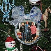 Подарки к праздникам ручной работы. Ярмарка Мастеров - ручная работа елочный шар с фото. Handmade.