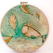 """Для дома и интерьера ручной работы. Ярмарка Мастеров - ручная работа настенное панно """"Рыба-лист"""". Handmade."""