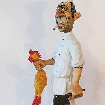 """Подарки к праздникам ручной работы. Ярмарка Мастеров - ручная работа """"Шеф - повар""""- декоративная фигура. Handmade."""