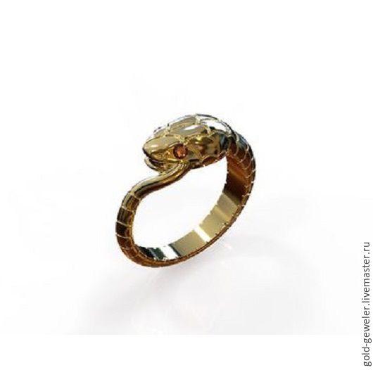 Золотое кольцо-тотем `UROBOROS`  Кольцо змея Ювелирная мастерская PACHO