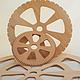 Вязание ручной работы. Ярмарка Мастеров - ручная работа. Купить Диск для кругового ткачества. Handmade. Золотой, диск, дерево